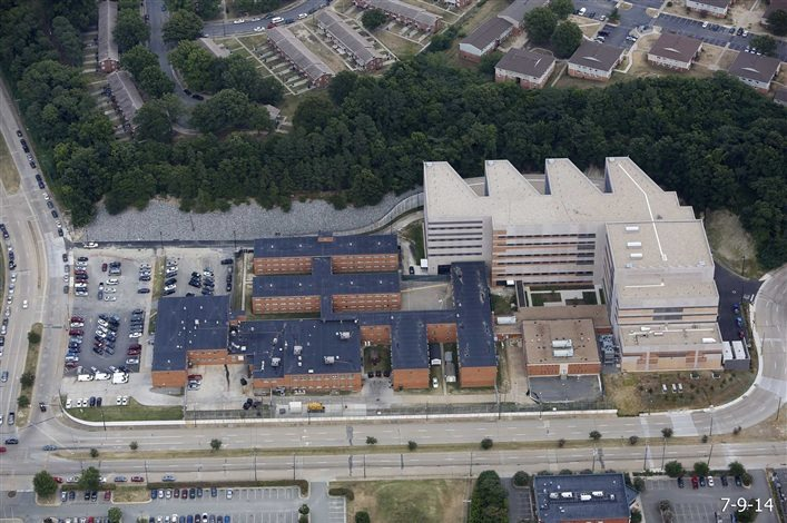 Ariel view of the Richmond Justice Center complex.