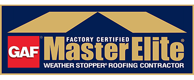 GAF Master Elite Weather Stopper Roofing Contractor Logo
