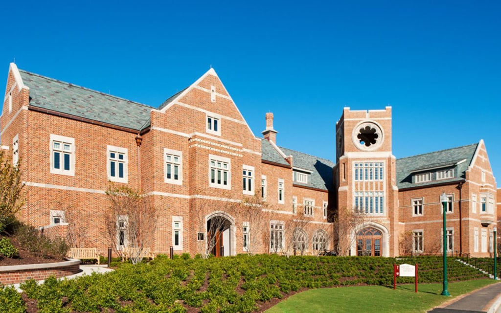 Photo of the completed Queally Center at University of Richmond