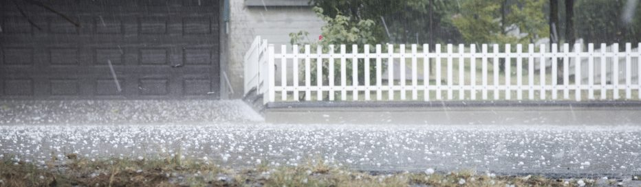 Photo of hail storm. NCI storm damage division can restore damage roofs compromised by hail storms.
