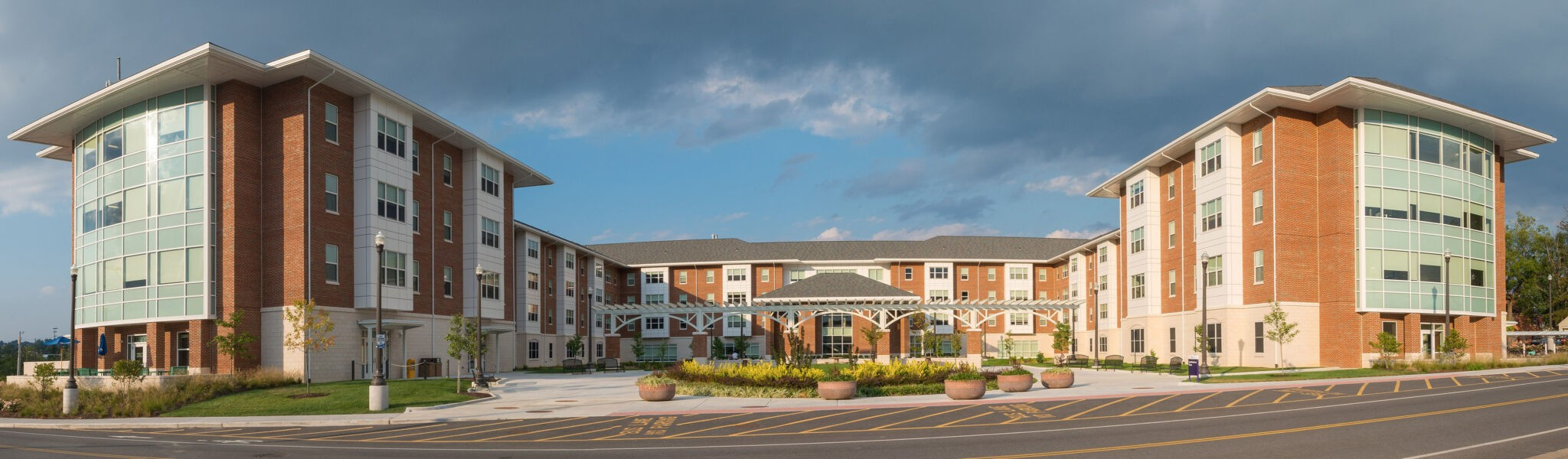 Photo of completed roofing project at James Madison University Grace Street Student Housing