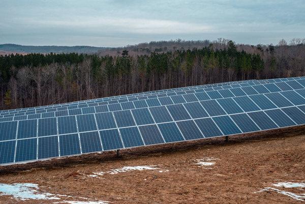 Image of solar ground mounts