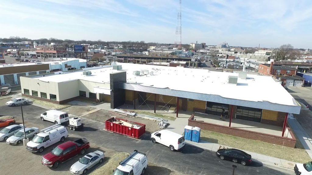 River City Roll commercial roofing project.