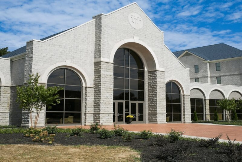 Image of a NCI commercial roofing project completed at Virginia Union University